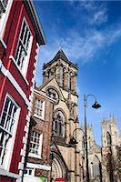 St Wilfrids Catholic Church and York Minster, York, Yorkshire, England Stock Photo - Premium Rights-Managednull, Code: 841-06344966