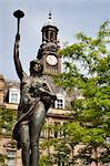 Morn Statue in City Square, Leeds, West Yorkshire, Yorkshire, England, United Kingdom, Europe Stock Photo - Premium Rights-Managed, Artist: Robert Harding Images, Code: 841-06345101