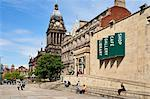 Leeds Library and Town Hall on The Headrow, Leeds, West Yorkshire, Yorkshire, England, United Kingdom, Europe Stock Photo - Premium Rights-Managed, Artist: Robert Harding Images, Code: 841-06345110