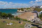People relaxing in park above Towan beach, Newquay, Cornwall, England, United Kingdom, Europe Stock Photo - Premium Rights-Managed, Artist: Robert Harding Images, Code: 841-06345149