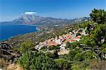 View to Mount Kerketeas and south west coast, Spatharaioi, Samos, Aegean Islands, Greece Stock Photo - Premium Rights-Managed, Artist: Robert Harding Images, Code: 841-06345164