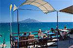 Cafe by sea, Pappa Beach, Ireon, Samos, Aegean Islands, Greece Stock Photo - Premium Rights-Managed, Artist: Robert Harding Images, Code: 841-06345209