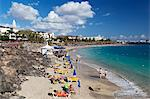 Beach view, Playa Blanca, Lanzarote, Canary Islands, Spain, Atlantic, Europe Stock Photo - Premium Rights-Managed, Artist: Robert Harding Images, Code: 841-06345239