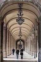 Arcade on Praca do Comercio, Baixa, Lisbon, Portugal, Europe Stock Photo - Premium Rights-Managednull, Code: 841-06345275