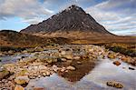 Buachaille Etive Mor and the River Coupall, Glen Etive, Rannoch Moor, Western Highlands, Scotland Stock Photo - Premium Rights-Managed, Artist: Robert Harding Images, Code: 841-06345310