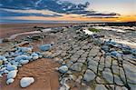 Sunset over rocks of Dunraven Bay, Southerndown, Wales Stock Photo - Premium Rights-Managed, Artist: Robert Harding Images, Code: 841-06345323