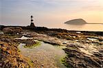 Dawn at Penmon Lighthouse, Penmon Point, Anglesey, North Wales, Wales, United Kingdom, Europe Stock Photo - Premium Rights-Managed, Artist: Robert Harding Images, Code: 841-06345338