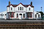 Station building at Llanfairpwllgwyngyllgogerychwyrndrobwllllantysiliogogogoch, Llanfair PG, Anglesey, North Wales, Wales, United Kingdom, Europe Stock Photo - Premium Rights-Managed, Artist: Robert Harding Images, Code: 841-06345341