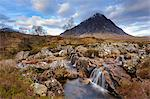 Buachaille Etive Mor and the River Coupall, Glen Etive, Rannoch Moor, Western Highlands, Scotland Stock Photo - Premium Rights-Managed, Artist: Robert Harding Images, Code: 841-06345378