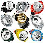 Empty cans Stock Photo - Premium Royalty-Free, Artist: Mitch Tobias, Code: 618-06346151
