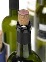Wine bottle macro Stock Photo - Premium Royalty-Freenull, Code: 618-06346365