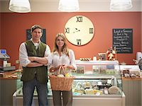 Couple shopping in grocery store Stock Photo - Premium Royalty-Freenull, Code: 649-06353038