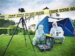 Forensic scientists at crime scene Stock Photo - Premium Royalty-Free, Artist: Cultura RM, Code: 649-06353137