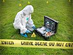 Forensic scientist at crime scene Stock Photo - Premium Royalty-Free, Artist: Uwe Umstätter, Code: 649-06353143
