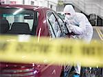 Forensic scientist at crime scene Stock Photo - Premium Royalty-Free, Artist: Blend Images, Code: 649-06353158