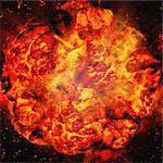 Giant Fireball Stock Photo - Premium Rights-Managed, Artist: Aflo Relax, Code: 859-06354583