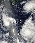 Hurricane Seen From Space Stock Photo - Premium Rights-Managed, Artist: Aflo Relax, Code: 859-06354587