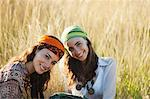 Young women in grass Stock Photo - Premium Royalty-Free, Artist: Ty Milford, Code: 633-06354896