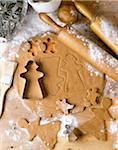 Gingerbread Cookie Dough Stock Photo - Premium Royalty-Free, Artist: Michael Mahovlich, Code: 600-06355377