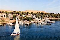 egypt - Felucca near Elephantine Island on River Nile, Aswan, Egypt Stock Photo - Premium Rights-Managednull, Code: 700-06355315
