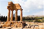 Temple of Castor and Pollux, Valley of the Temples, Agrigento, Sicily, Italy Stock Photo - Premium Rights-Managed, Artist: F. Lukasseck, Code: 700-06355365