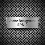 plate on metal background, eps10 Stock Photo - Royalty-Free, Artist: yanas                         , Code: 400-06356530