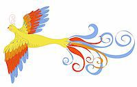 frbird - vector illustration of firebird made with graphic table Stock Photo - Royalty-Freenull, Code: 400-06356561