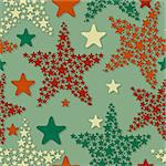 vector seamless pattern with christmas stars, eps 8 Stock Photo - Royalty-Free, Artist: alexmakarova                  , Code: 400-06357056