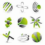 green business icons design Stock Photo - Royalty-Free, Artist: lemony                        , Code: 400-06358165