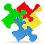 Puzzle piece icon, vector eps10 illustration Stock Photo - Royalty-Free, Artist: _human                        , Code: 400-06360709