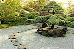 beautiful zen garden by summer morning Stock Photo - Royalty-Free, Artist: yuriz                         , Code: 400-06362137