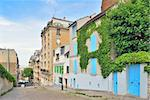 Paris. Beautiful street on the Montmartre hill Stock Photo - Royalty-Free, Artist: TatyanaSavvateeva             , Code: 400-06365801