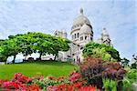 Paris. The top of the hill  Montmartre and the basilica Sacre Coeur Stock Photo - Royalty-Free, Artist: TatyanaSavvateeva             , Code: 400-06365959