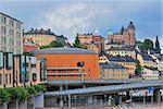Stockholm. Sodermalm district on the background of the stormy sky Stock Photo - Royalty-Free, Artist: TatyanaSavvateeva             , Code: 400-06366309