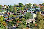 A very beautiful old town in Finland - Porvoo. View from the steep bank of the river Stock Photo - Royalty-Free, Artist: TatyanaSavvateeva             , Code: 400-06366638
