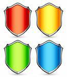 Set of 4 color shields. Stock Photo - Royalty-Free, Artist: timurock                      , Code: 400-06367051