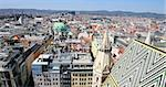 Panorama of Vienna, aerial view from Stephansdom cathedral, Vienna, Austria Stock Photo - Royalty-Free, Artist: vladacanon                    , Code: 400-06367291