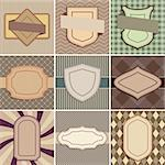 Vector set of vintage backgrounds with place for text. Stock Photo - Royalty-Free, Artist: MiloArt                       , Code: 400-06367433