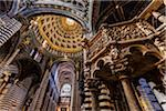 Pulpit and Ceiling of Siena Cathedral, Siena, Tuscany, Italy