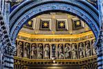 Architectural Interior of Siena Cathedral, Siena, Tuscany, Italy
