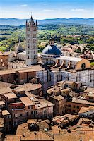 Overview of Siena Cathedral, Siena, Tuscany, Italy Stock Photo - Premium Rights-Managednull, Code: 700-06367788