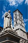 Statue in Piazza Michele and Church of San Michele in Foro, Lucca, Tuscany, Italy Stock Photo - Premium Rights-Managed, Artist: R. Ian Lloyd, Code: 700-06367801