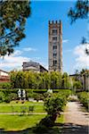 Tower of San Frediano and Palazzo Pfanner Garden, Lucca, Tuscany, Italy Stock Photo - Premium Rights-Managed, Artist: R. Ian Lloyd, Code: 700-06367802