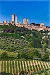San Gimignano and Farmland, Siena Province, Tuscany, Italy Stock Photo - Premium Rights-Managed, Artist: R. Ian Lloyd, Code: 700-06367894