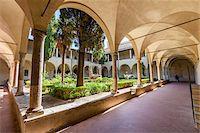 Cloister of Sant'Agostino Church, San Gimignano, Siena Province, Tuscany, Italy Stock Photo - Premium Rights-Managednull, Code: 700-06367909