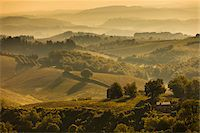 Farmland and Rolling Hills, San Gimignano, Siena Province, Tuscany, Italy Stock Photo - Premium Rights-Managednull, Code: 700-06367916