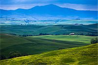 Scenic of Valley, Val d'Orcia, Siena, Tuscany, Italy Stock Photo - Premium Rights-Managednull, Code: 700-06368047