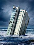 Highrise Floating in Ocean Stock Photo - Premium Rights-Managed, Artist: Marc Simon, Code: 700-06368075