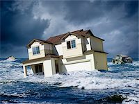 flooded homes - Houses Floating in Ocean Stock Photo - Premium Rights-Managednull, Code: 700-06368077