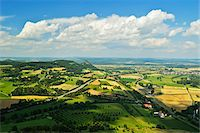 road landscape - View of Hegau from Hohentwiel Castle, Hohentwiel, Singen, Baden-Wurttemberg, Germany Stock Photo - Premium Rights-Managednull, Code: 700-06368314